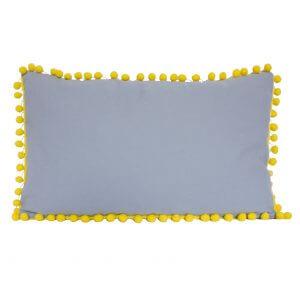 sierkussen grijs en gele pompoentjes