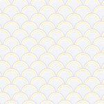 behang grijs geel japanse water print