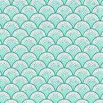 behang groen japanse water print