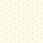 Behang geel japanse print okika
