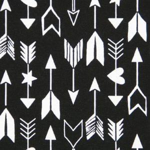 Pijlen-zwart-gordijnstof-zwart-wit-okika-patroon