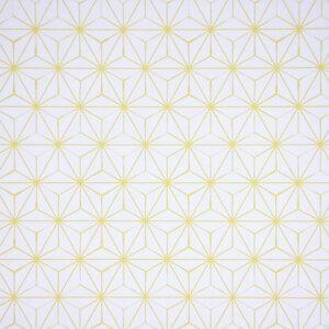 behang, behangen, behang geel, kinderkamer, behang meisje, behang jongen, geel, oker, warm, print, japans, asanoha,