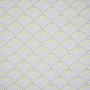 behang golven grijs en geel, behang, behangen, behang geel, kinderkamer, behang meisje, behang jongen, geel, oker, warm, print, japans, asanoha,