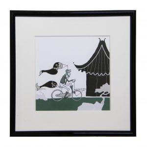 japanse prenten, poster kopen, illustratie, Githa, tekening, zwart wit, kinderkamer, jongen