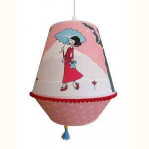 lamp, hanglamp, meisje, roze, kinderkamer, okika