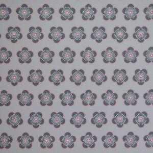 Behang Bloem roze-grijs, behang online, behang bestellen, behang kinderkamer, bloem, bloemen, meisje, meisjeskamer, behang voor meisjeskamer, behang mint, roze, grijs, bloesem
