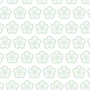 behang mint bloesem, behang, mint, bloem, bloemen, print, wallpaper, kinderkamer, meisje, meisjeskamer, japanse print, okika, non-woven, sterk behang