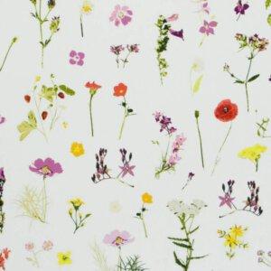 kindergordijn bloemenzee, bloemen, wit, kindergordijn, gordijn kopen, kinderkamer, meisje, meisjeskamer, gordijn op maat.