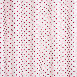 kindergordijn Stip wit rood, kindergordijnen, stippen , rood, wit, dots, gordijn op maat, gordijn ontwerpen, gordijn verduisterend, gordijnen online