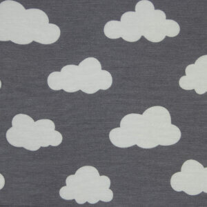 Stof Grijze Wolk, wolken, grijs, wit, babykamer, gordijnstof, kinderkamer, gordijnen, gordijnen ontwerpen, gordijn ontwerp