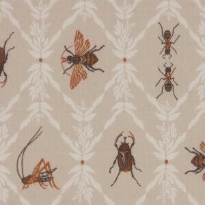 gordijnen Insecten, gordijn kinderkamer, gordijn op maat, gordijn jongenskamer, insecten, bruin, beige, beestjes, torren, mieren, motten, krekels, gordijnen online, gordijn kopen