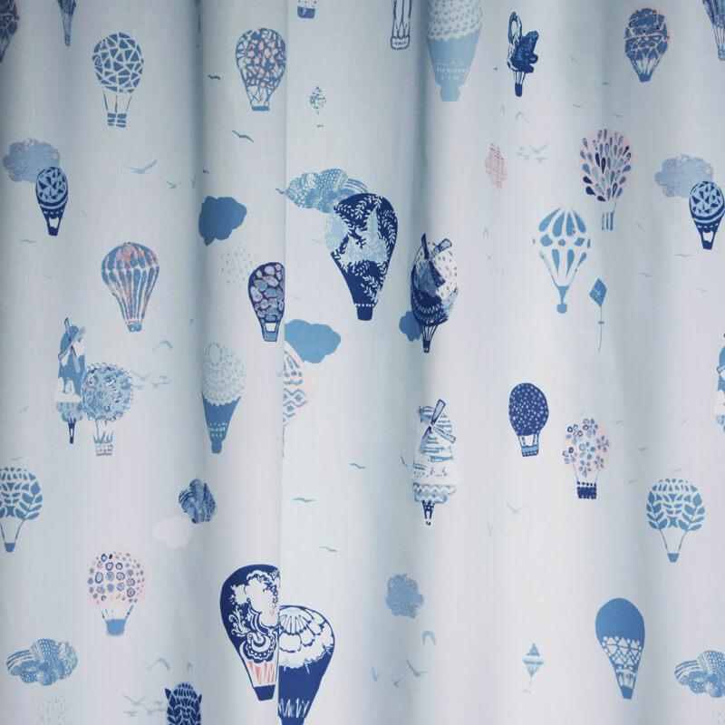 okika gordijnen luchtballon blauw
