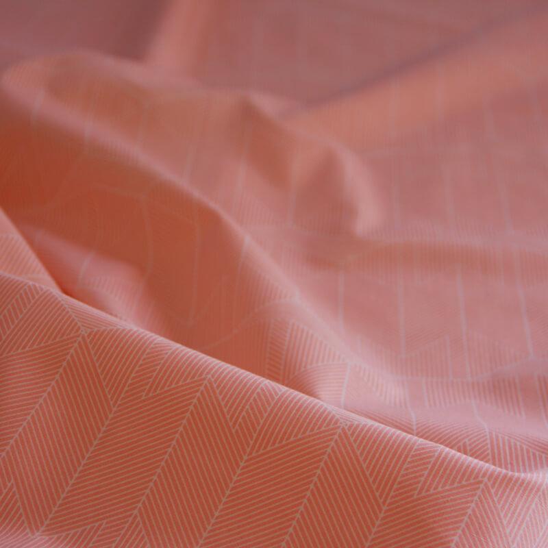 Gordijnen Babykamer Meisje.Okika Geo Roze Gordijnstof Meisje Okika Detail Ad1642