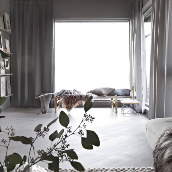 Okika · gordijnen Linnen Grijs Naturel