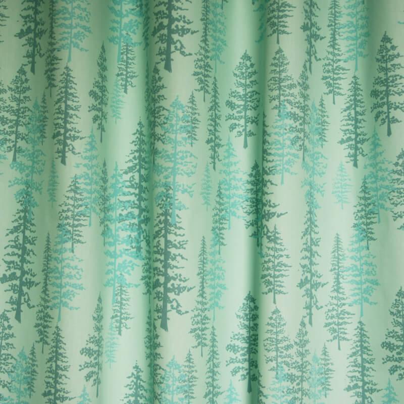 Okika gordijnen sparren blauw for Gordijnen stof