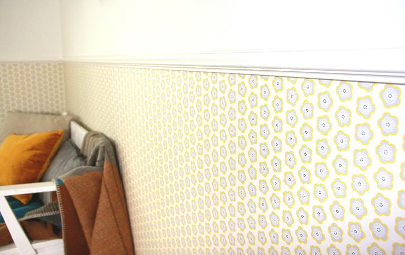 Behang Kinderkamer Geel : Okika · 8 kinderkamer okika gordijn oker geel behang gele bloem