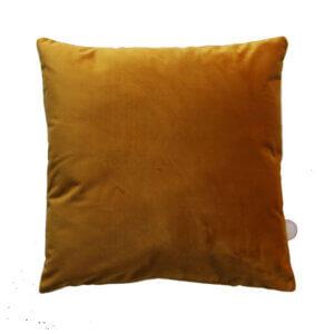 kussen, 40x40cm, oker, geel, kussentje, fluweel, velvet, online, kopen,