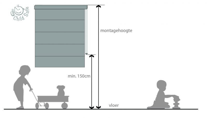 regenls, vouwgordijnen, child-safety, kinderen, kind, peuters, baby, vouwgordijnen, ketting, snoeren, 150cm