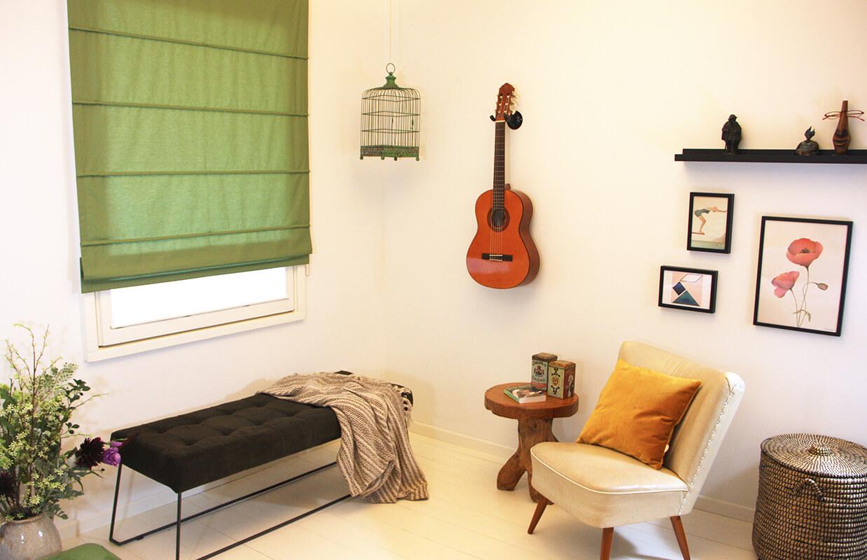 Babykamer Gordijnen Groen : Okika · sfeer vouwgordijn art groen okika