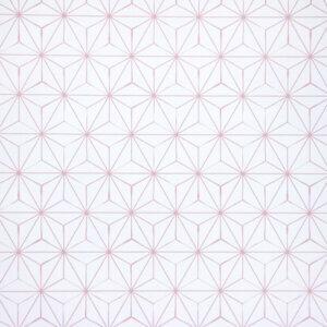 behang asanoha roze, behang, behangen, behang geel, kinderkamer, behang meisje, behang jongen, geel, oker, warm, print, japans, asanoha,