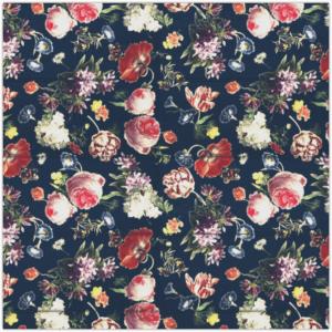 vouwgordijn bloemenpracht, bloemen, retro, kobalt blauw, bloem, paars, roze, aubergine, kleuren, pastel, tiener, puber, neutraal, babykamer, zoon, dochter, meisje, jongen, baby babykamer, gordijn kinderkamer, gordijn op maat, gordijn meisjeskamer, kinderkamer, kamer, gordijnen online, gordijn kopen