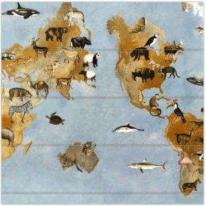 vouwgordijn Landkaart, wereld, wereldkaart, dieren, dier, landen, bohemien, groen, natuur, groen, dieren, bohemien, dier, animal, tiener, puber, neutraal, babykamer, zoon, dochter, meisje, jongen, baby babykamer, gordijn kinderkamer, gordijn op maat, gordijn meisjeskamer, kinderkamer, kamer, gordijnen online, gordijn kopen
