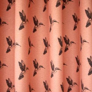 gordijnen kolibrie roze, roze, kolibrie, vogel, vogels, dieren, bohemien, dier, animal, tiener, puber, neutraal, babykamer, zoon, dochter, meisje, jongen, baby babykamer, gordijn kinderkamer, gordijn op maat, gordijn meisjeskamer, kinderkamer, kamer, gordijnen online, gordijn kopen