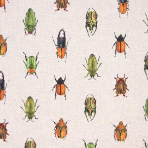 vouwgordijn Kriebelbeestjes, tor, torren, beestjes, insecten, linnen, ongebleekt,, natuur,mint, blauw, groen, dieren, bohemien, dier, animal, tiener, puber, neutraal, babykamer, zoon, dochter, meisje, jongen, baby babykamer, gordijn kinderkamer, gordijn op maat, gordijn meisjeskamer, kinderkamer, kamer, gordijnen online, gordijn kopen