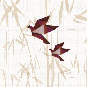 behang vogels roest bruintinten bruin