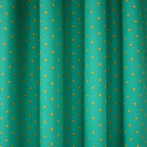 gordijnen, groen, blauw, oker, kinderkamer, gordijnen op maat