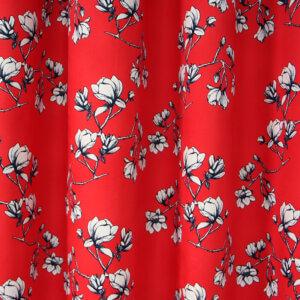 gordijnen, rood, japan, bloemen, katoen, gordijn op maat