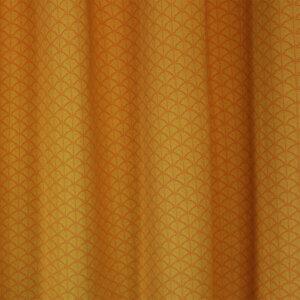 gordijnen, Japanse print, oker, geel, gordijn op maat, gordijnstof