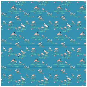 gordijnen, flamingo, blauw, roze, meisjeskamer, meisje